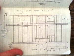 Sketch of South wall framing