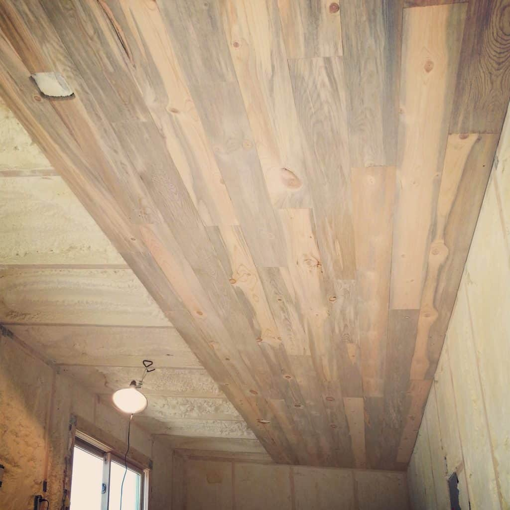 Faux Wood Stain Using Acrylic Paint And Calcium Carbonate