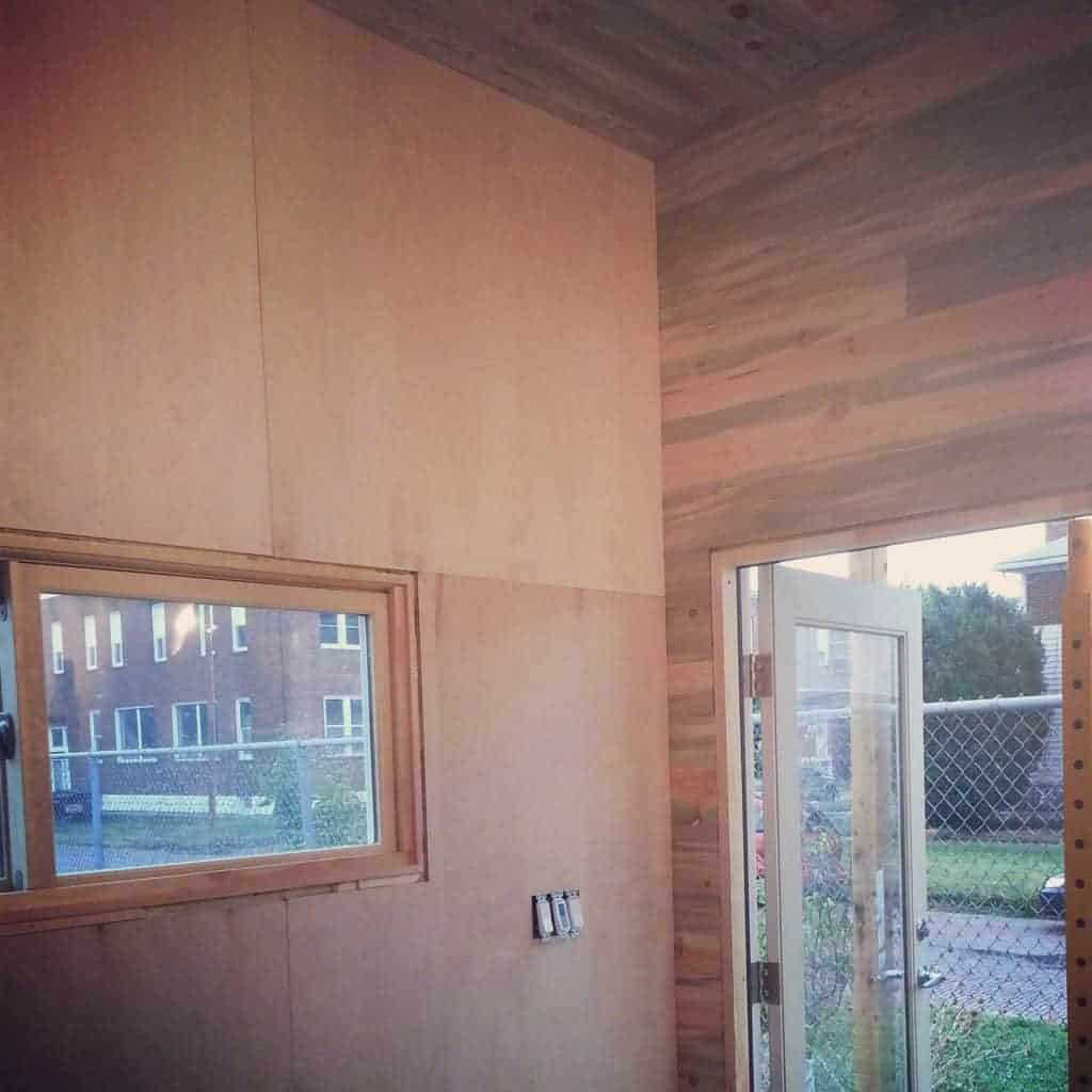 Nearly finished white walls! (birch plywood, painting and ...