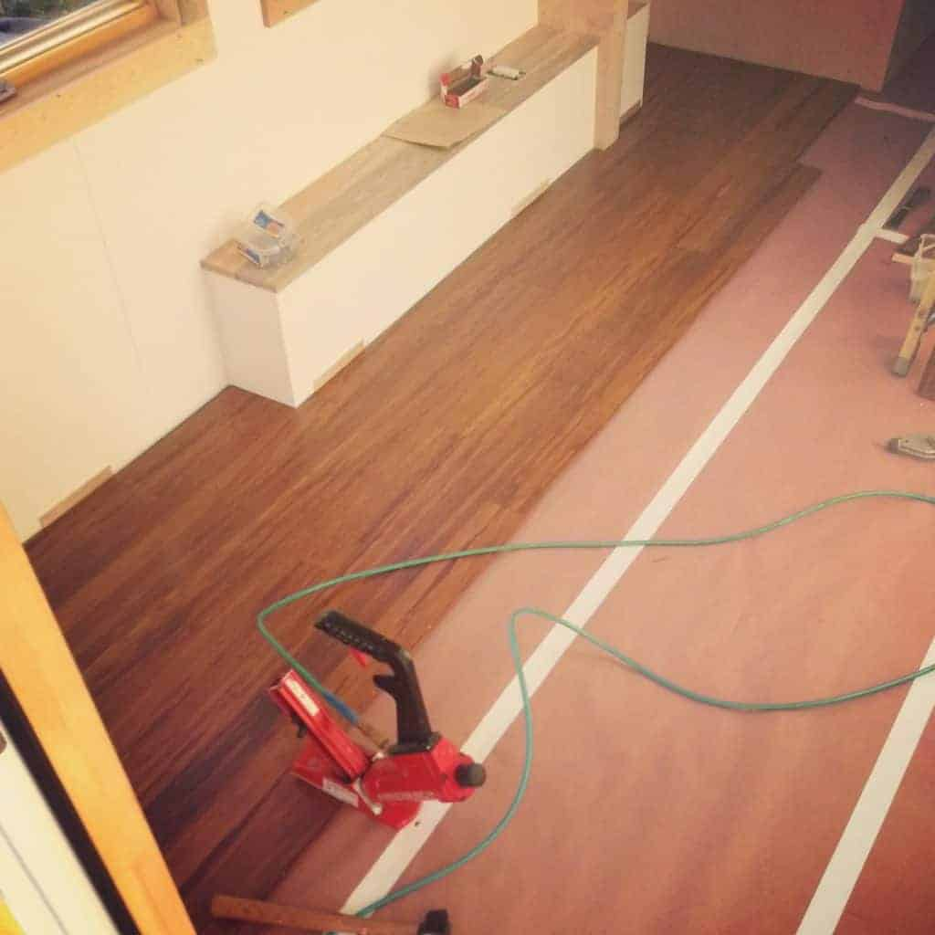 Carbonized Strand Bamboo Flooring In Kitchen