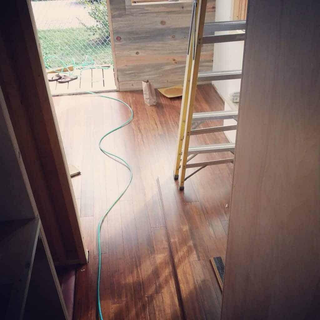 Bamboo Flooring Plus A Bit Of Plumbing Amp Shower Installation