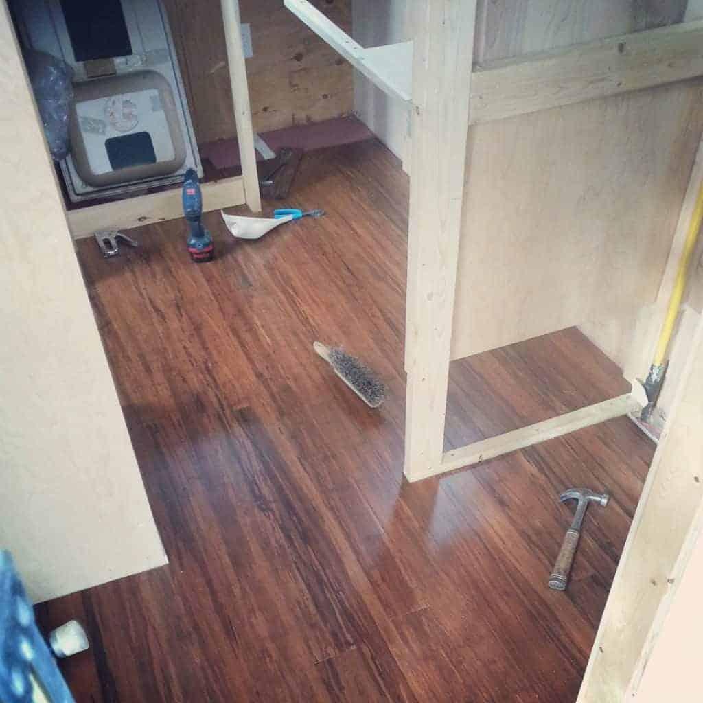 Bamboo Flooring, Plus A Bit Of Plumbing & Shower Installation
