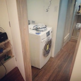washer/dryer combo going in