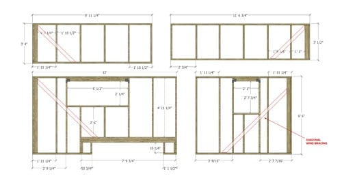Tiny house on wheels floor plans blueprint for construction tiny house wall framing malvernweather Image collections