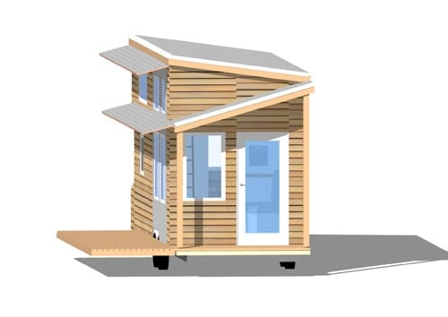 Tiny House on Wheels Floor Plans Blueprint for Construction | The ...