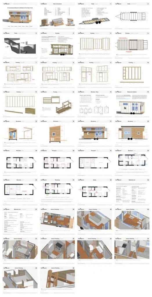 Tiny House on Wheels Floor Plans Blueprint for