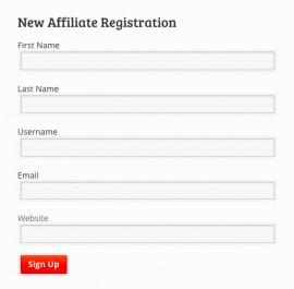 Affiliate Program Registration Form