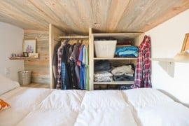 Tiny House Loft Closet Space