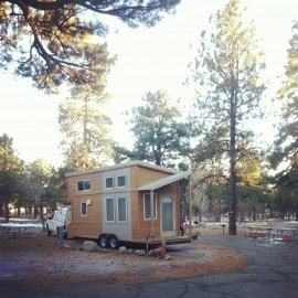 tiny house KOA in Flagstaff, AZ