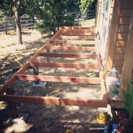 tiny hosue deck framing