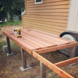 tiny house redwood deck boards