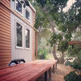 tiny house fold up deck