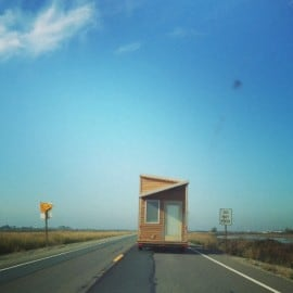 Tiny house on the highway