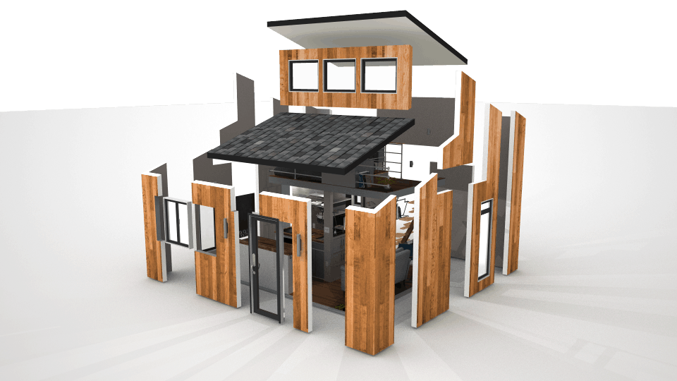 Modern In Small Living Room And Dining Room