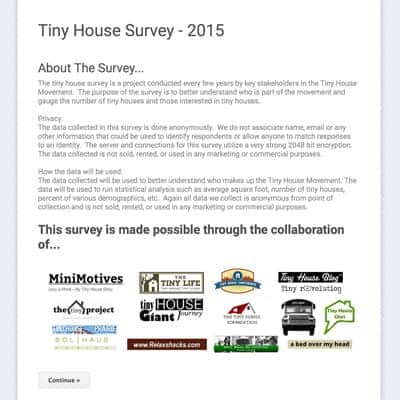 2015 Tiny House Survey