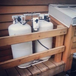 Propane tanks on the Tiny Project tiny house
