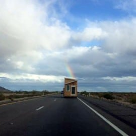 tiny house travel rainbow