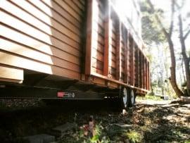 Tiny house fold-up deck
