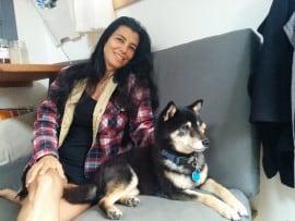 Lee & Anya -- my travel companions!