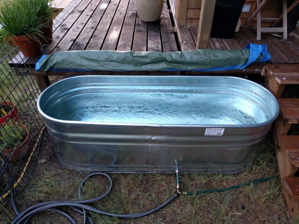 stock tank outdoor tub