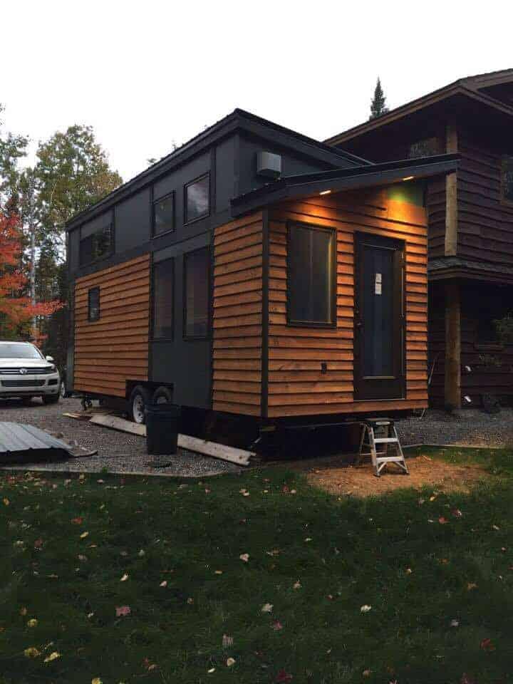 Tiny House built from Tiny Project tiny house on wheels plans